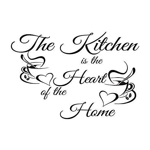 Etiqueta de la pared del dormitorio cocina es artista de vinilo decoración del hogar taza de café azulejo de la pared etiqueta extraíble arte vinilo flor 85 * 58 cm