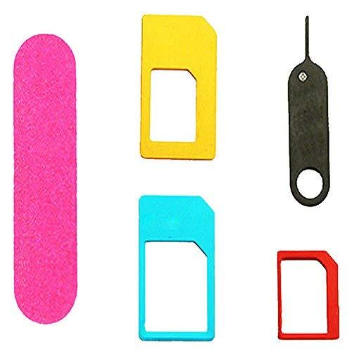 ONEVER Nano SIM Adaptador de Tarjeta Cinco-en-uno Standard Kit Adaptador Regular de...