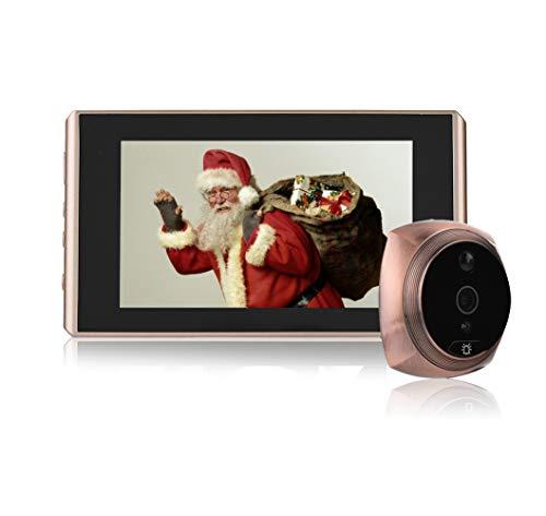Bewinner Video-Türspion, Digitaler Türspion & Türklingel 2 Millionen Pixel 4,3 Zoll LCD-Bildschirm Nachtsicht-Türklingel mit Türspion-Kamera 160 ° Weitwinkel-Unterstützung 8 GB Micro SD-Karte