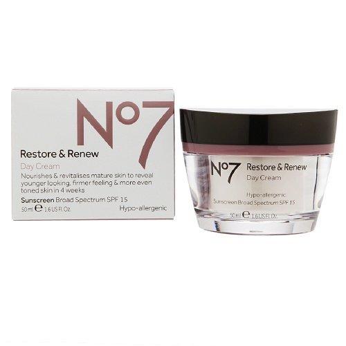 Boots No7 Restore & Renew Day Cream, SPF 15 1.6 oz (50 ml) by Boots