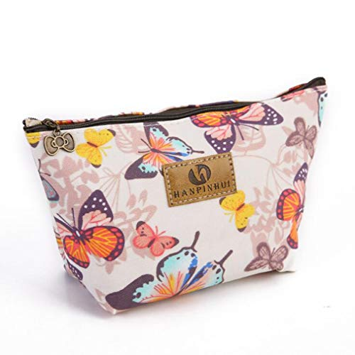 Kaned imprimé Sac cosmétique Cartoon Wash Bag Butterfly Pattern Petit Sac de Maquillage, Papillon