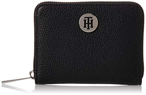 Tommy Hilfiger Damen Th Core Compact Za Wallet Geldbörse, Schwarz (Black), 2.5x10.199999999999999x12.7 centimeters