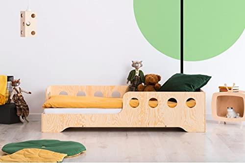 Mami | Cama para niños | Cuna Montessori Hola | Colchón Smart (no incluido) Altura niño | Color madera natural | Grabado personalizado con el nombre