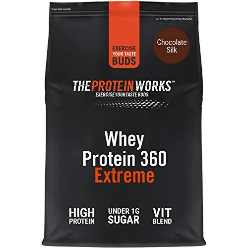 THE PROTEIN WORKS Whey Protein 360 Extreme Protein Powder | High Protein Shake | With Glutamine, Vitamins & Minerals | Protein Blend | Chocolate Silk | 1.2 Kg
