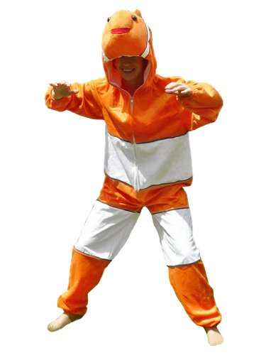 Ikumaal Fisch-Kostüm, J22 Gr. XL, Für hoch gewachsene Männer und Frauen! Clown-Fisch Kostüme Fische als Faschings- Karnevals Fasnachts-Geschenk, Faschings-Kostüme für Erwachsene, Paar-Kostüme