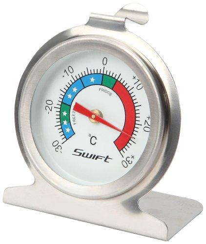 Dexam RVS Koelkast en vriezer Thermometer, Zilver