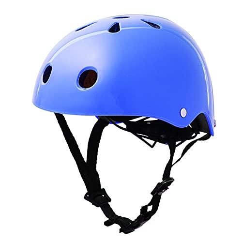 Yaxing Casco de Bicicleta Ligero,Casco de Ciclismo para niños,Casco de Bicicleta de montaña,Casco Ajustable,extraíble,niños niñas de 3 a 13 años (50-57 CM)