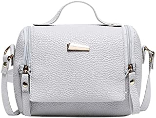 TOOGOO Women'S Handbag Simple And Ladies Female Fashion Shoulder Messenger Bag Handbag Messenger Bag Gray
