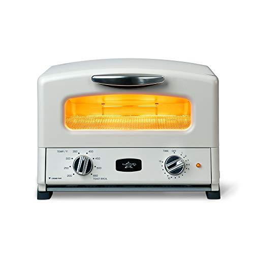 Sengoku SET-G16A (W) HeatMate - Horno tostador compacto de grafito con 4 sartenes antiadherentes para tostar y hornear, 120 V, color blanco