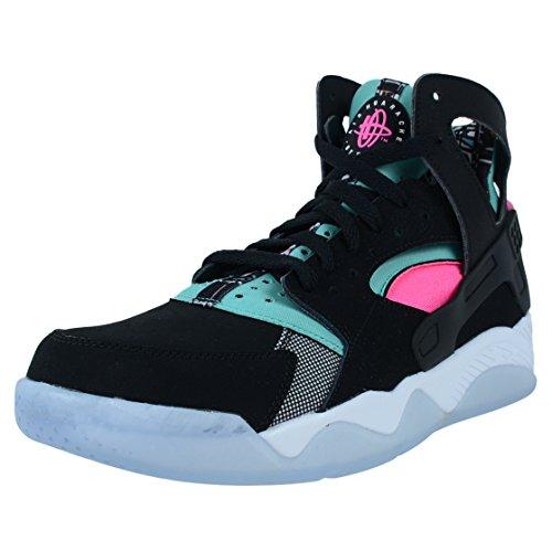 Nike Air Flight Huarache Hi Ginnastica 705005 Scarpe da Tennis (UK 10.5 US 11,5 EU 45,5, Retro Black Light Pink Power Bianco 003) 10.5 UK Retro Black Light Pink Power Bianco 003