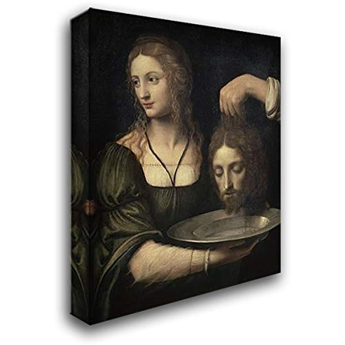 Luini, Bernardino 20x24 Gallery Wrapped Stretched Canvas Art Titled: Salome Receiving The Head of John The Baptist