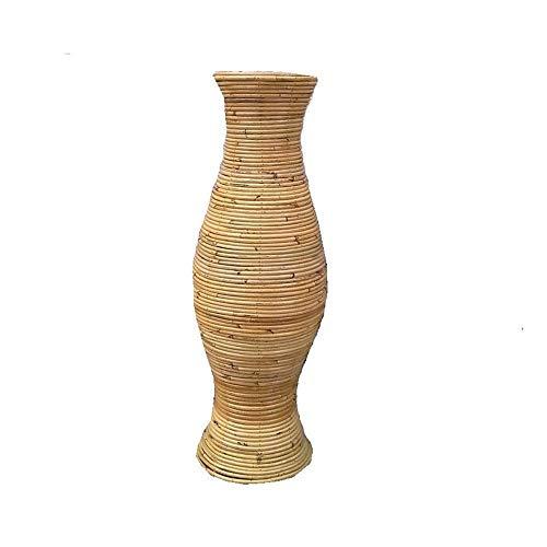 Ykun Vaso in Rattan/Vaso in Rattan Naturale/Protezione Ambientale Naturale Non ha Paura di Cadere-Altezza 100 cm