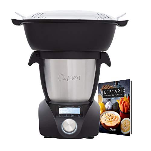 IKOHS CHEFBOT Compact STEAMPRO - Robot de Cocina Multifunción, Cocina al Vapor, 23 Funciones, 10 Velocidades con Turbo, Bol...