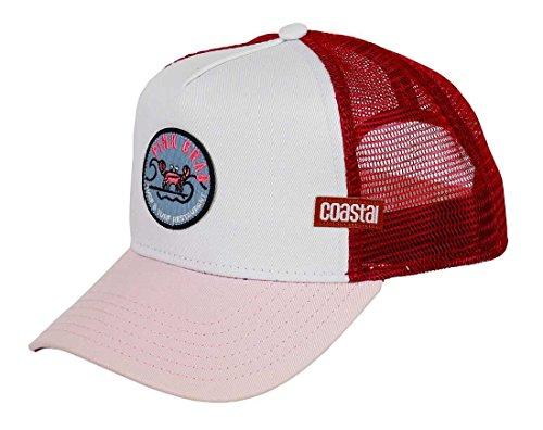 Coastal Homme Casquette de Camionneur - Pinkcrab (White/Pink) - Trucker Cap
