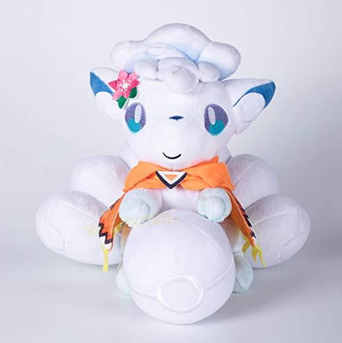 JMUNG Anime Pokemon Plush Doll Vulpix White Fox Stuffed Toy PP Cotton Soft Se Puede Usar como Decoración del Hogar Regalos De Cumpleaños Y Navidad para Niños 30Cm