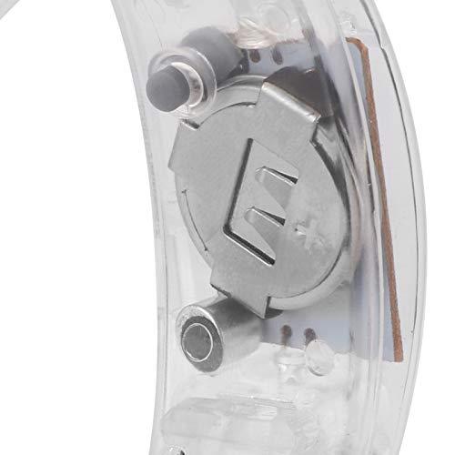 Lantuqib Pulsera LED de Control de Sonido, Pulsera Intermitente activada por Voz Que se ve Genial para Bar para Escenario para Fiesta para Concierto de música(White)