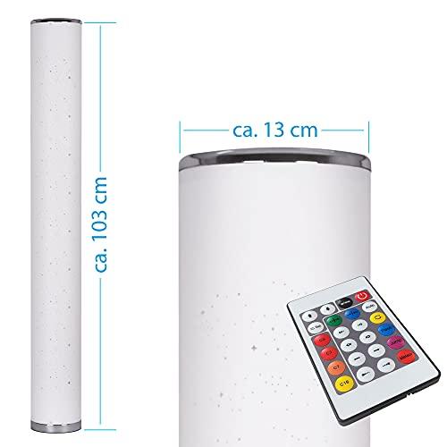 LED Stehlampe RGB 10W 104 cm Fernbedienung Farbwechsel Lichtsäule Lichteffekte Stehleuchte modern (TOWER 10W 104cm)