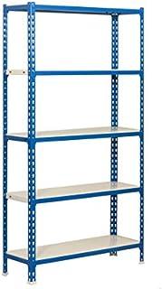 SimonRack SI409 Kit Estanter/ía con 5 Estantes 2000 x 1000 x 300 mm Azul y blanco
