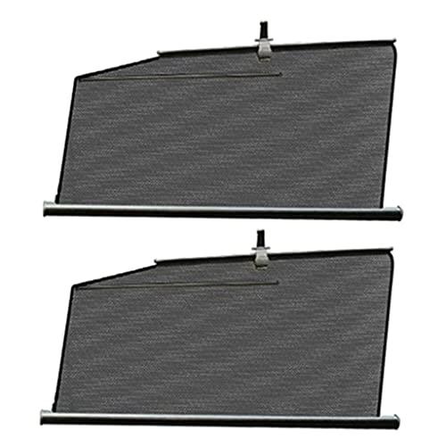 MERIGLARE Juego de 2 cortinas protectoras de parasol para ventana lateral para Tesla Model S - Parte delantera