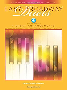 Paperback Easy Broadway Duets: Nfmc 2020-2024 Selection Later Elementary to Early Intermediate Level - 1 Piano, 4 Hands Book