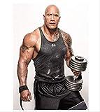 DPFRY Leinwand Malerei Rock Dwayne Johnson Muskel