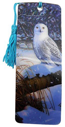 Lesezeichen Eule Schneeeule Kautz 15,5 cm Design Bookmarks mit Kordel Deko GG 5298