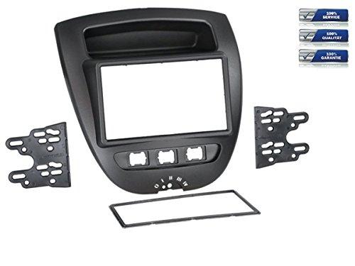 NIQ Doppel-DIN Radioblende für Toyota Aygo/Citroen C1 / Peugeot 107 *schwarz*