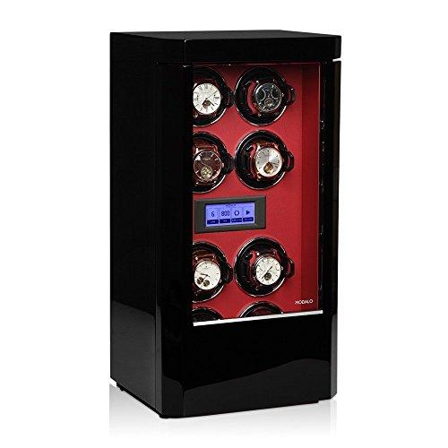Modalo Royal MV3 Uhrenbeweger für 8 Automatikuhren in schwarz rot 2808143