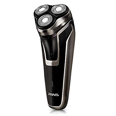 RIWA Electric Shaver for Men, Electric Razors with Pop-up Beard Trimmer Men's Face 3D Groomer USB Rechargeable, Fast-Charging Cordless Shavers with 5 Watts Ultra Powerful Motor for Dense Beard by RIWA