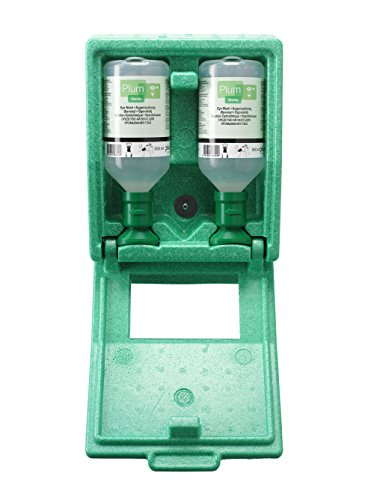 Plum 45852 Small Eyewash Station, 11' Height, 4.75' Wide, 8.5' Length, 16.9 fl. oz, Polystyrene