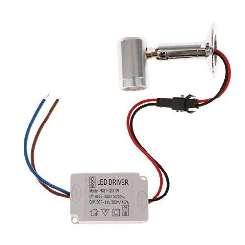 Gazechimp AC 86-265V 3W LED Strahler Spot Einbaustrahler + LED Driver für Innen Decke Wohnzimmer - Warmweiß