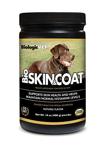 BiologicVET Bioskin&Coat Natural Antihistamine Powder for Dogs & Cats, 14 oz.