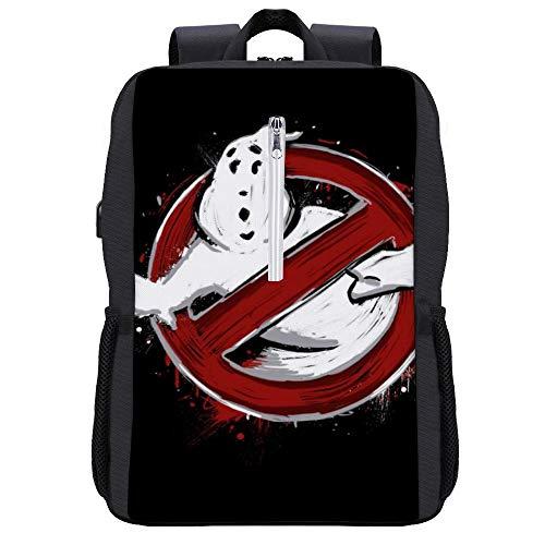 Heroes of New York City Ghostbusters Rucksack Daypack Bookbag Laptop Schultasche mit USB-Ladeanschluss