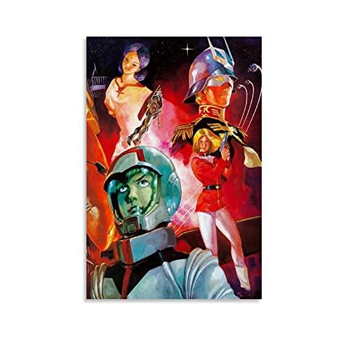 Mobile Suit Gundam 0079 Anime Estético Póster Pintura Decorativa Lienzo Arte de la Pared de la Sala de estar Carteles Pintura Dormitorio 40 x 60 cm