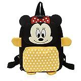 BKJJ Mickey Backpack, Cartable Maternelle Fille Mickey Petit Sac À Dos Disney Cartable Maternelle Fille Minnie, Pour Enfant Et Pour L'École Ou Les Voyages - Beaucoup De Rangement(Jaune)