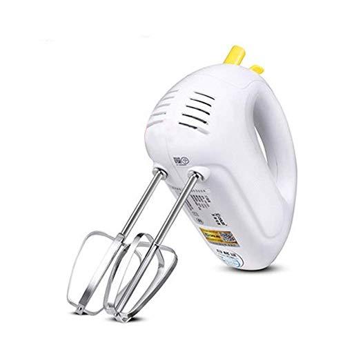 NLRHH Tragbares Handheld Elect Ei Schläger, Heavy Duty Hand Mixer Stand Mixer Elektrische Handmischer for Küchen 7-Gang-Einstellungen Whisks-Gelb Peng (Color : Yellow)