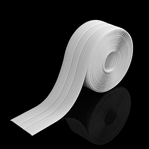 Ruban détanchéité à trois volets,Bande PVC Blanc,Ruban auto-adhésif anti-moisissure et anti-fuite adapté à de nombreuses occasions pour cuisine ou salle de bain(320 * 3,8cm)…
