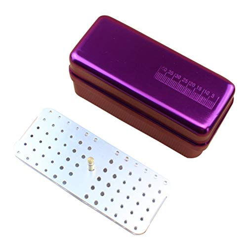 SUPVOX Caja de desinfección para el cuidado bucal de 72 agujeros Agujeros Autoclave Esterilizador Caja de Fresas Dentales Equipo Dental herramientas de cuidado oral