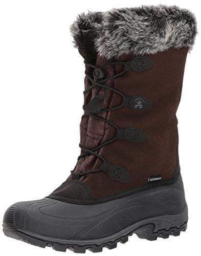 Kamik Women's Momentums Snow Boot, Dark Brown Suede, 11 D US