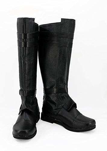 Linen Family Anakin Skywalke Stiefel Darth Vader Stiefel Schuhe Cosplay Boots Herren Schwarz
