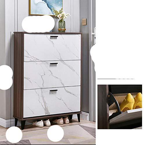 Sala de estar Pasillo Zapatero Armario de muebles para el hogar Apartamento n¨rdico Estante de almacenamiento Dormitorio Zapato ultrafino -blanco A 80x17x120cm