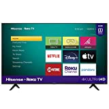 Hisense 55-Inch Class R6090G Roku 4K UHD Smart TV with Alexa Compatibility (55R6090G, 2020 Model)