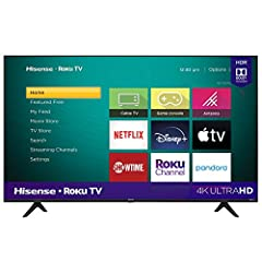 Powered by exclusive technologies to amplify color, contrast, brightness, and smooth motion, the Hisense UHD smart TV combine incredible, ultra-bright 4k detail with the intuitively smart Roku TV to take your TV experience to the next level TV Dimens...