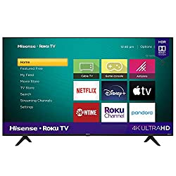 in budget affordable Hisense 55-inch Roku 4K UHD R6090G class smart TV (with Alexa support) (55R6090G model, 2020 model)
