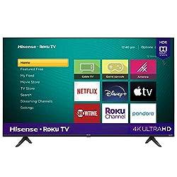 top 10 hisense 4k tv Hisense 50-inch Roku 4K UHD R6090G class smart TV (Alexa compatible) (model 50R6090G, 2020)