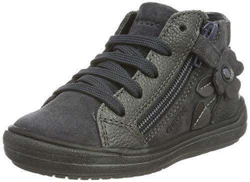Geox Mädchen J HADRIEL Girl A Hohe Sneaker, Grau (Dk Grey C9002), 33 EU