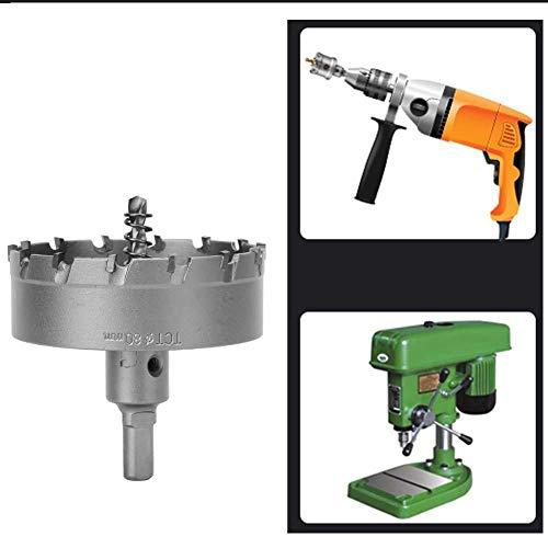 1 stks Carbide Tip Gatenzaag Boor Set Voor Metaallegering Staal (90mm)