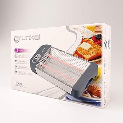 Grunkel-Flacher-Toaster-fuer-alle-Arten-von-Brot-und-Backwaren-mit-600-W-Leistung-Toast-Timer-mit-6-Stufen-und-Kruemelschublade-Modell-TSP-G2