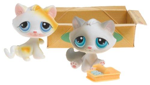 Littlest Pet Shop - Pet Pairs - 2Pack - Katzen mit Sardinendose - von 2004