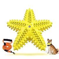 噛むおもちゃ 小型犬 犬歯磨き 犬用歯ブラシ 犬口腔ケア 歯周病・口臭予防 耐噛み耐咀嚼 無毒ゴム フローティングデザイン (黄色)